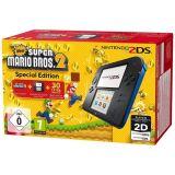 Console 2ds Noir Bleu + New Super Mario Bros 2