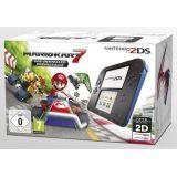 Console Nintendo 2ds Noire Et Bleue + Mario Kart 7