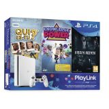 Console Ps4 Slim Blanche 500 Giga + Qui Es Tu + Knowledge Is Power + Hidden Agenda