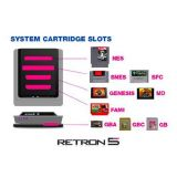 Console Retron 5 Gba + Snes + Nes + Genesis + Famicom Noire