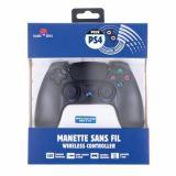 Manette Ps4 Sans Fil Avec Prise Jack Pour Casque/boutons Lumineux - Noir