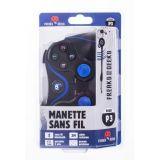 Manette Ps3 Bluetooth Sans Fil Vibrante + Cable De Recharge 3m