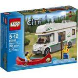 Lego City - 60057 - Jeu De Construction - Le Camping-car Et Son Canoe